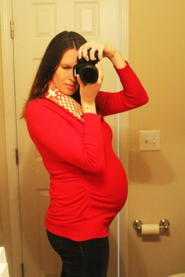 Week 30 Belly Update - The Not So Desperate Chef Wife