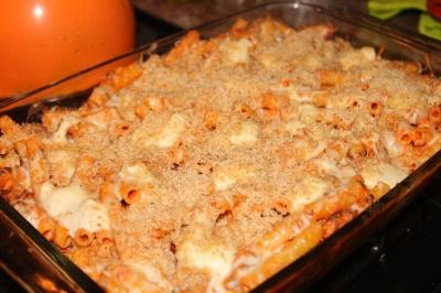 Creamy Baked Ziti Casserole