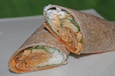 Buffalo Chicken Wrap - The Not So Desperate Chef Wife