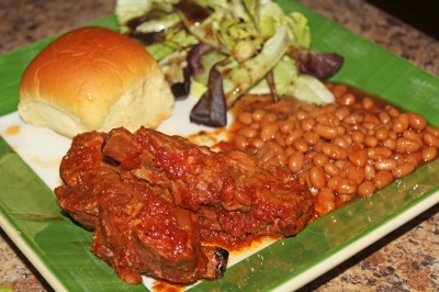 Ruth's Pork Ribs and Beans - The Not So Desperate Chef Wife