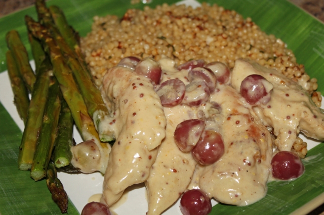 Mustard Chicken with Grapes