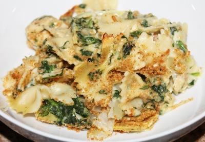 Chicken Florentine Artichoke Bake