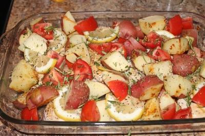 tomato chicken bake
