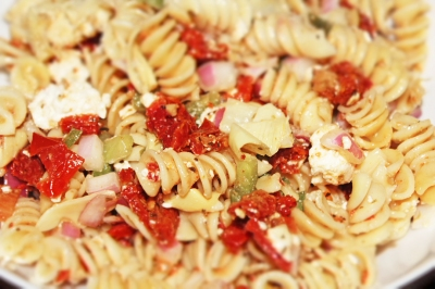 Mediterranean Pasta Salad - The Not So Desperate Chef Wife